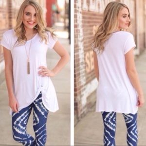 Infinity Raine White Side Knot Tunic